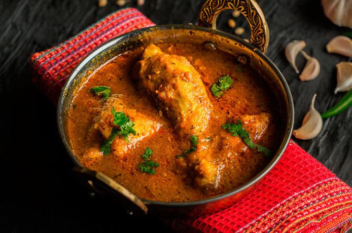 Pollo al curry estilo Andhra